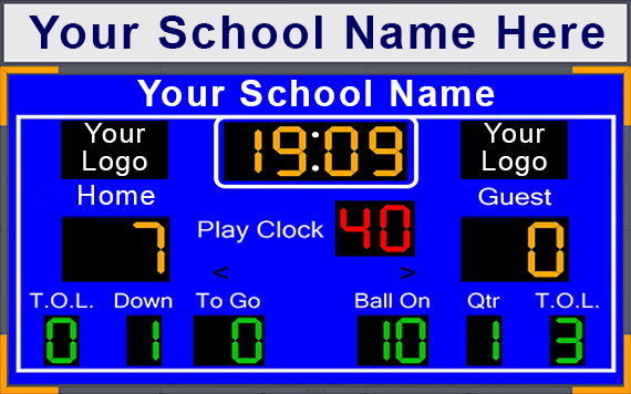 Football Scoreboard with Optional Header